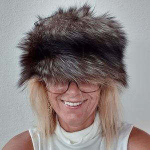 Vintage fur hat. Long hair  from Russia